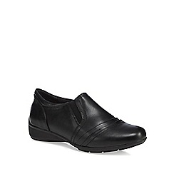 Good for the Sole - Black 'Gail' wide fit shoes
