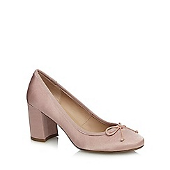 The Collection - Pink 'Colette' high block heel court shoes