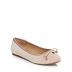 The Collection - Pink velvet 'Carrina' wide fit pumps