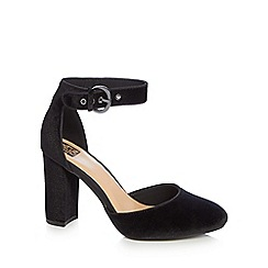 The Collection - Black 'Catorina' high block heel ankle strap sandals