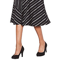 The Collection - Back suedette 'Carten' high stiletto heel court shoes