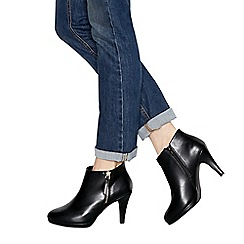 The Collection - Black 'Charlene' high stiletto heel shoe boots