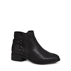 The Collection - Black 'Cony' ankle boots
