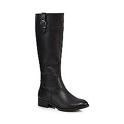 The Collection - Black 'Corsage' riding boots