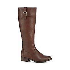 The Collection - Brown 'Corsage' riding boots