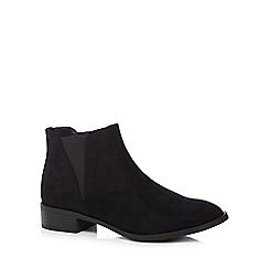The Collection - Black 'Christy' low block heel ankle boots