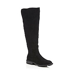 Mantaray - Black suedette 'Maddox' knee high boots