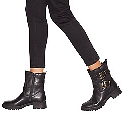 Mantaray - Black 'Mikey' biker boots
