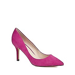 Faith - Dark pink suedette 'Chariot' high stiletto heel pointed shoes