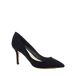 Faith - Black suedette 'Chariot' high stiletto heel court shoes