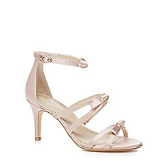 Debut - Light pink 'Drew' high stiletto heel ankle strap sandals
