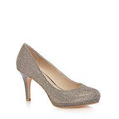 Debut - Dark grey glitter 'Dobbie' high stiletto heel court shoes