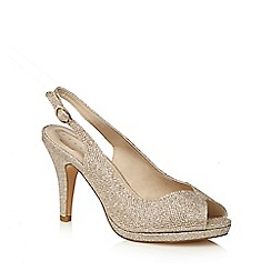 Debut - Gold 'Dale' high stiletto heel peep toe sandals