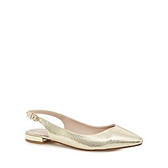 Faith - Gold patent 'Aaliyah' wide fit slingbacks