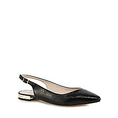 Faith - Black patent 'Aaliyah' wide fit slingbacks
