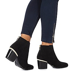 Faith - Black 'Barleen' high block heel ankle boots