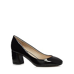 Principles by Ben de Lisi - Black patent mid block heel court shoes