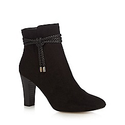 Principles by Ben de Lisi - Black suedette 'Bibi' high block heel ankle boots