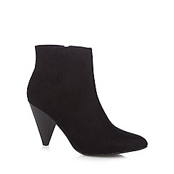 Principles by Ben de Lisi - Black suedette 'Brooke' high heel ankle boots