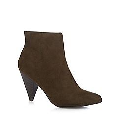 Principles by Ben de Lisi - Khaki suedette 'Brooke' high heel ankle boots