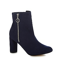 Principles by Ben de Lisi - Navy 'Bena' high block heel ankle boots