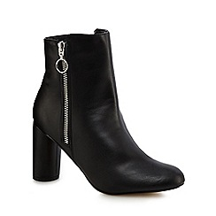 Principles - Black 'Bena' high block heel ankle boots