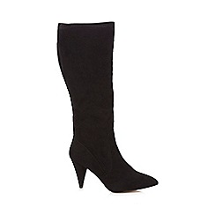 Principles by Ben de Lisi - Black suedette 'Bryn' high block heel knee high boots