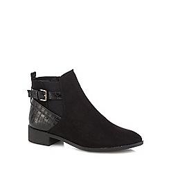 Principles by Ben de Lisi - Black suedette 'Birdie' buckle ankle boots