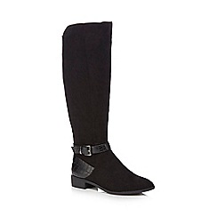 Principles by Ben de Lisi - Black suedette 'Breda' knee high boots