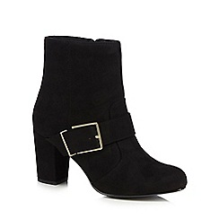 Principles by Ben de Lisi - Black suedette 'Britt' high block heel ankle boots