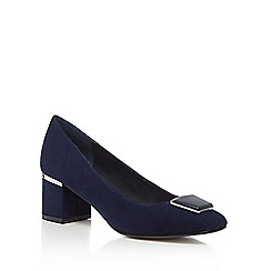 Principles by Ben de Lisi - Navy mid block heel court shoe