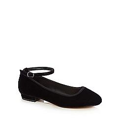 Faith - Black velvet 'Amore' ankle strap pumps