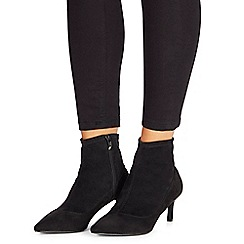 Faith - Black 'Bondi' mid kitten heel ankle boots