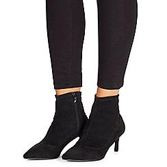 Faith - Black 'Bondi' mid kitten heel ankle boots