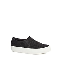 Faith - Black 'Kyga' slip-on trainers