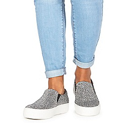 Faith - Silver 'Kyga' slip-on trainers