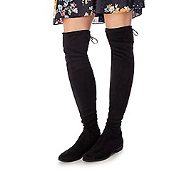 Faith - Black suedette 'Mester' knee high boots