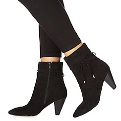 Faith - Black suedette 'Birdy' high heel ankle boots