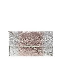 Faith - Silver glitter 'Patricia' clutch bag