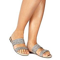 Faith - Silver 'Justin' flip flops