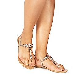 Faith - Rose gold 'Jile' T-bar strap sandals