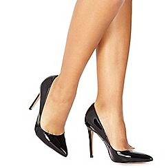 Faith - Black patent 'Chloe' high stiletto heel pointed shoes