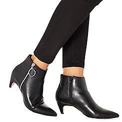 Faith - Black 'Bolly' mid block heel ankle boots