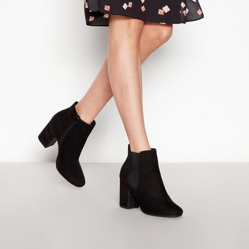1068e0ff4db3 Principles - Black High Block Heel Chelsea Ankle Boots