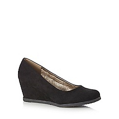 Good for the Sole - Black wedge high court shoes