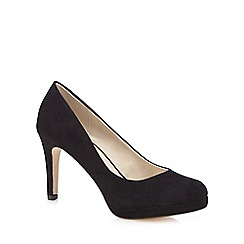 Red Herring - Black high platform court shoes