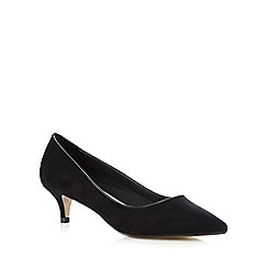 Red Herring - Black textured low court shoes
