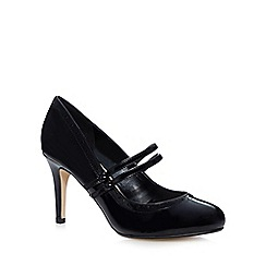 The Collection - Black cut-out mid heeled shoes