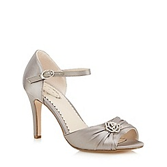 Debut - Silver gathered floral stone high court shoes
