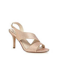 Debut - Gold glitter high stiletto heel slingback sandals